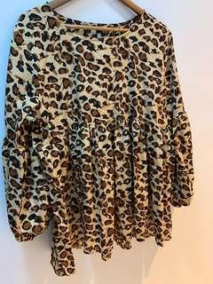 Babydoll leopard printed blouse