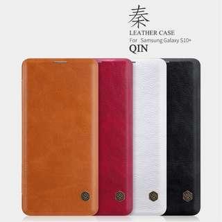 🚚 Samsung S10 / Plus Leather Flip Case Full Coverage Casing