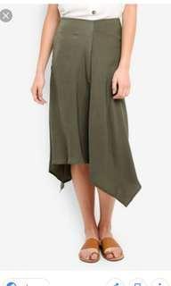 Cotton on olive midi skirt