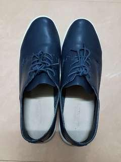 United Arrows Navy Leather Shoes
