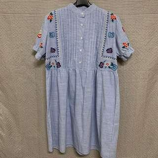 🚚 日系 刺繡洋裝