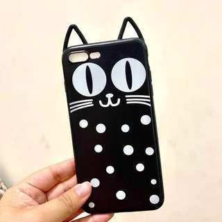 Black Cat Funny Case for Iphone 7+/8+