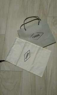Original Fossil paperbag and dustbag