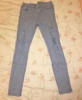 🚚 窄版破褲