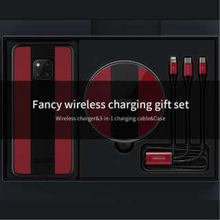 🚚 Huawei Mate 20 Pro Fancy Gift Set Case Wireless Charger