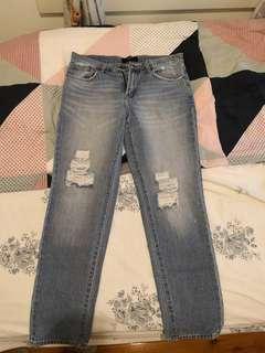 Size 8 Dotti boyfriend ripped jeans #swapAU