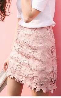 [SuperDeal] Lace Floral Skirt