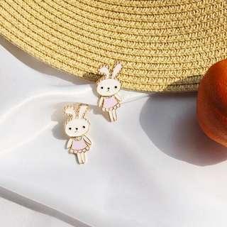 可愛兔仔耳環 $10一對