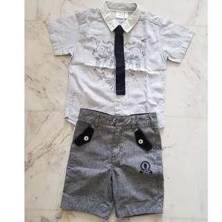 Trudy & Teddy shirt and bermudas set (3-5 years old) with free cute hangers