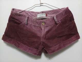 🚚 Maroon Corduroy Shorts