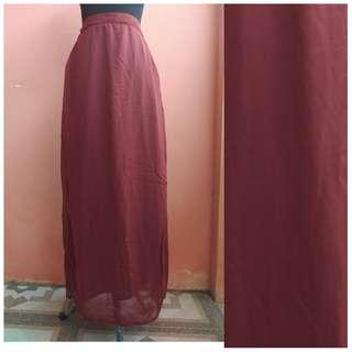 Long Skirt rok panjang tutu muslim cewek hijab furing