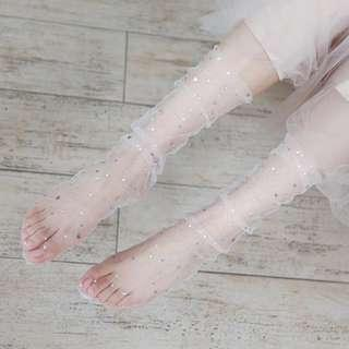 Stars & Moons Mesh Socks (Three pairs)