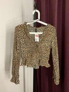 New HnM Leopard Top