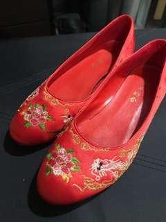 中式褂鞋 35-36碼 送鞋夾