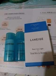 Laneige Sample乳液25mL及爽膚25mL一套25元
