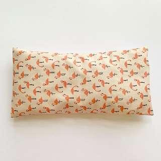 🚚 ⭐️Bean Sprout Husk Pillow / Beanie Pillow , Imported Fabric ( 100% Handmade 100% Cotton , Premium Quality!) 15 x 30 cm flamingo