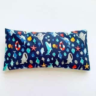 🚚 ⭐️Bean Sprout Husk Pillow / Beanie Pillow , Imported Fabric ( 100% Handmade 100% Cotton , Premium Quality!) 15 x 30 cm baby shark