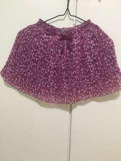 Pink floral skirt~ size 7-8