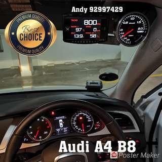 Audi A4 B8 Lufi X1 Revolution OBD OBD2 Gauge Meter display