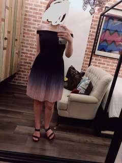Preloved off shoulder Pastel Colour MGP Label Dress