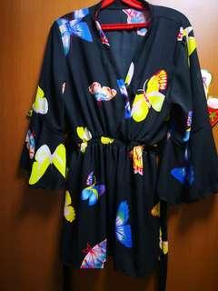 Brand New Kimono Set Butterfly