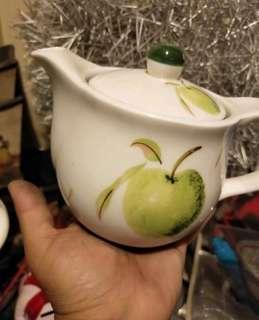 🚚 一個200 ,9個1000青蘋果茶具 茶壺 泡花茶 放濾網也可以幾乎全新無損