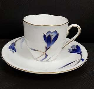 Blue Flower Cup and Saucer