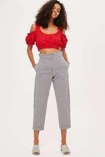 Topshop Gingham Trousers