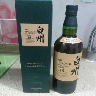 🍻日本白州18年🍻(THE HAKUSHU single malt WHISKY aged 18 years)