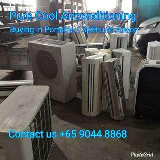 Buying in portable /split unit / casement aircon