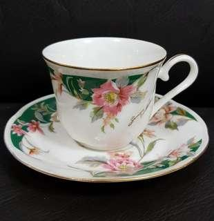 Floral Cup and Saucer (x2)