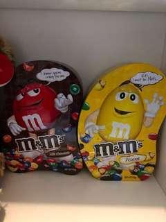 M&M巧克力鐵盒一組