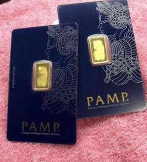 999 Gold - 5 x 2.5g each ❤️💙💚💛