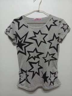 🚚 Grey Stars Tshirt