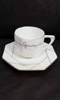 Givenchy Cup and Saucer x2