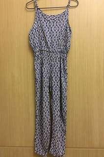 🚚 幾何連身褲(肩帶可調整)