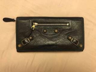Balenciaga leather wallet (black)