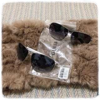 【精品特價】美國知名品牌GUESS UV400太陽眼鏡 墨鏡 閃亮黑鏡腿 天使白鏡腿