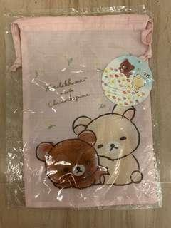 New with tag authentic Rilakkuma drawstring pouch bag