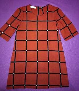 Dres merah kotak