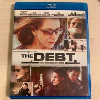 Blu Ray The Debt 碟債 港版 繁中字幕