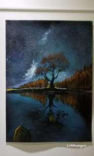 Acrylic painting/畫/420x297mm/連框