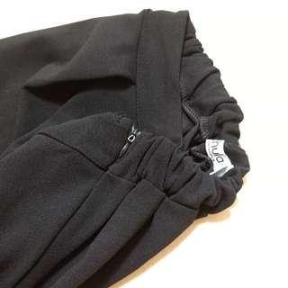 🚚 Caco 七分寬褲(黑)