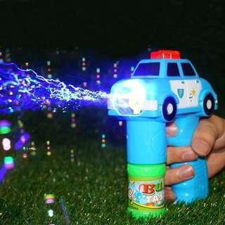 🚚 Automatic Sound Light Police Bubble Gun Toy