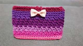 Teacher's Day Gift!!! Crochet Handmade Ezlink Card Holder