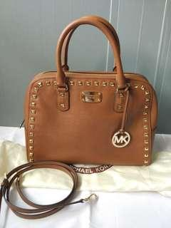 Preloved Authentic Excellent Condition Michael Kors MK Studded Brown Bag