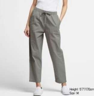WOMEN COTTON RELAX ANKLE PANTS