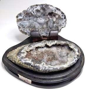 C001-瑪瑙聚寶盆 天然水晶原礦 清倉大特價