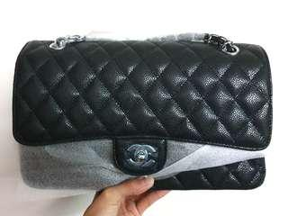 [FULL SET BOUTIQUE]: Chanel quilted caviar jumbo double flap