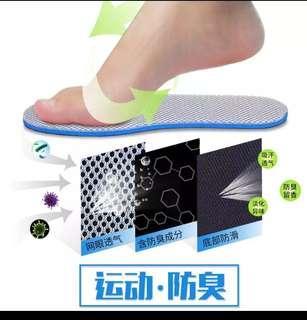 鞋墊 防臭 舒適 透氣 吸汗 柔軟 運動鞋墊